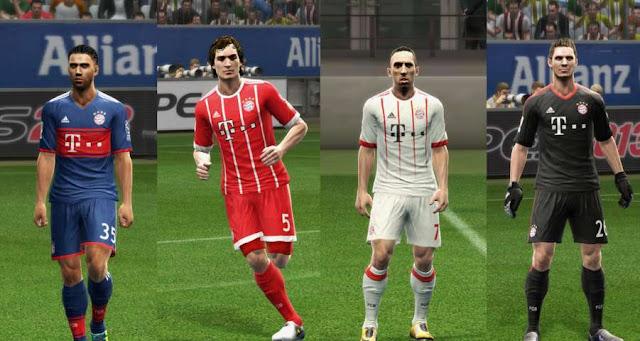 Bayern München 2017-18 Kit PES 2013