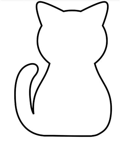Tranh tô màu con mèo cho bé hai tuổi