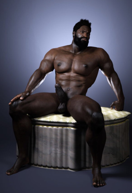 Naked Dark Black Men