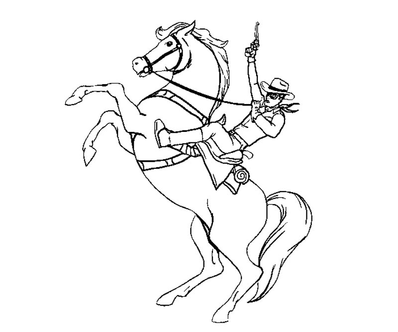 random the lone ranger coloring pages