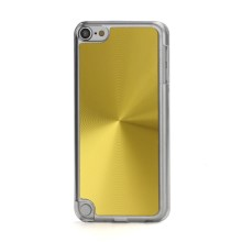 Metallic CD Pattern Transparent Edge Hard Case Cover Skin for iPod Touch 5 - Gold