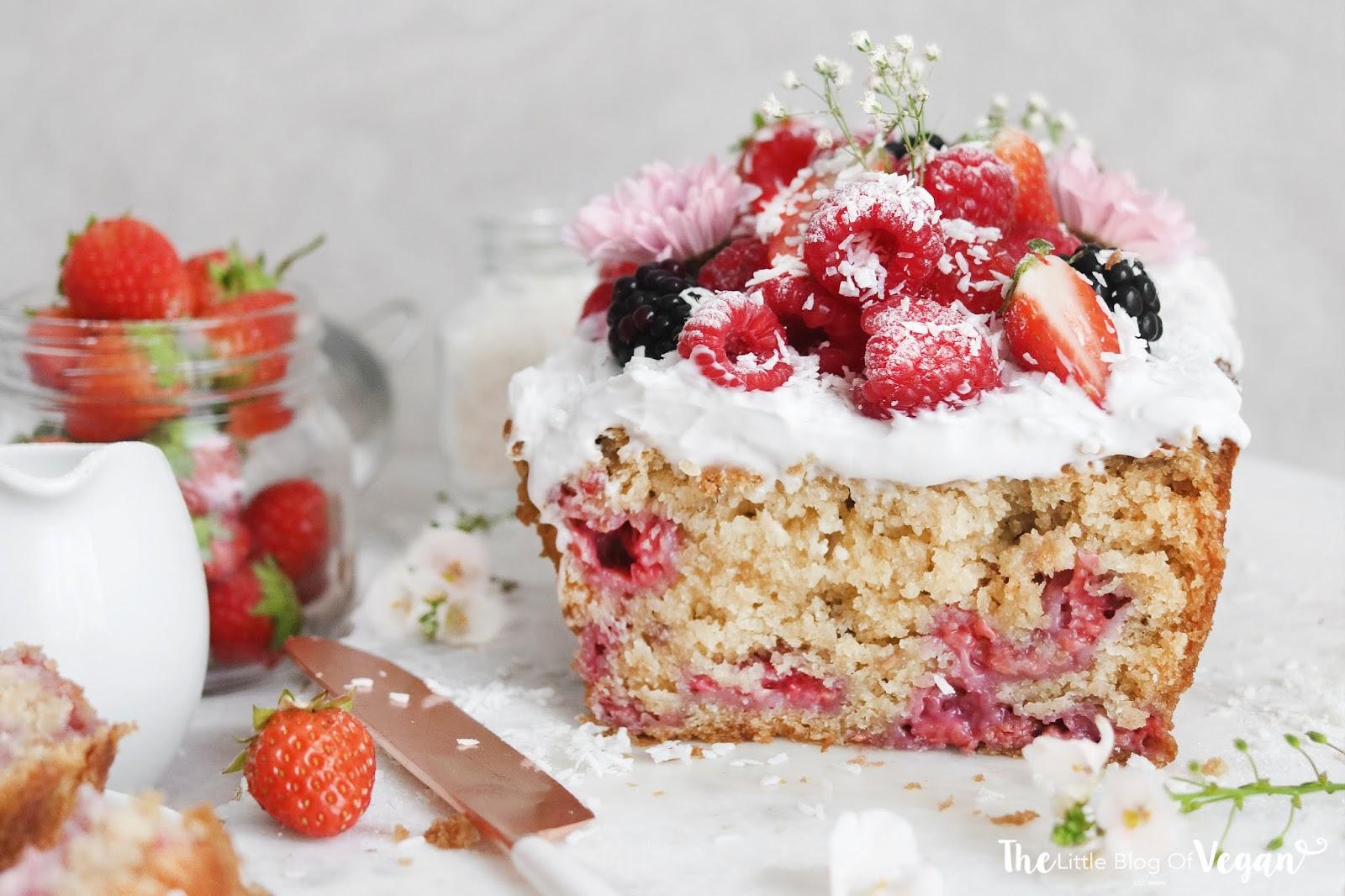 Coconut & raspberry loaf cake recipe