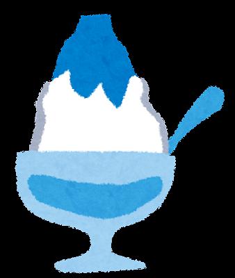 夏のイラスト「かき氷・ブルーハワイ」
