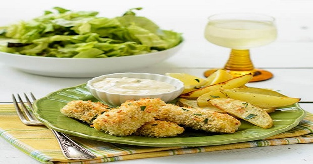Crispy Fish Sticks With Roasted Potatoes Recipe