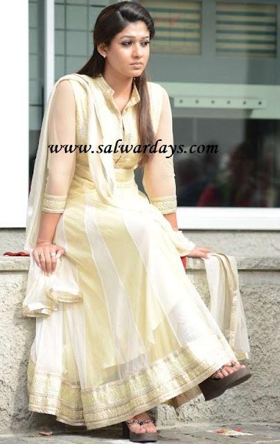 Top 11 Anarkali Salwar Looks By Nayanthara   Candy Crow ...