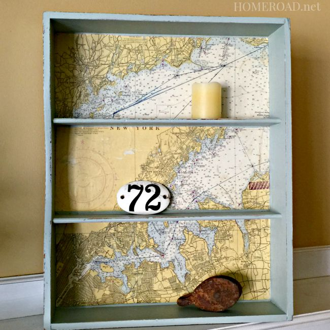 How to Make a Map Shelf From a Repurposed Drawer