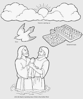 Baptism Coloring Sheet: Baby At The Font   Catholic sacraments ...   332x280