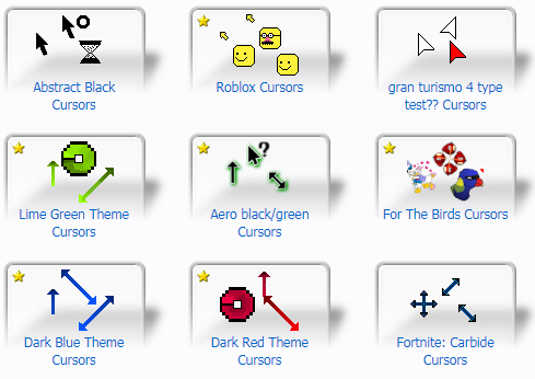 cursors with different styles