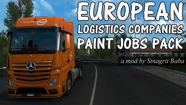 sinagrit baba ets 2 mods, ets 2 european logistics companies paint jobs pack
