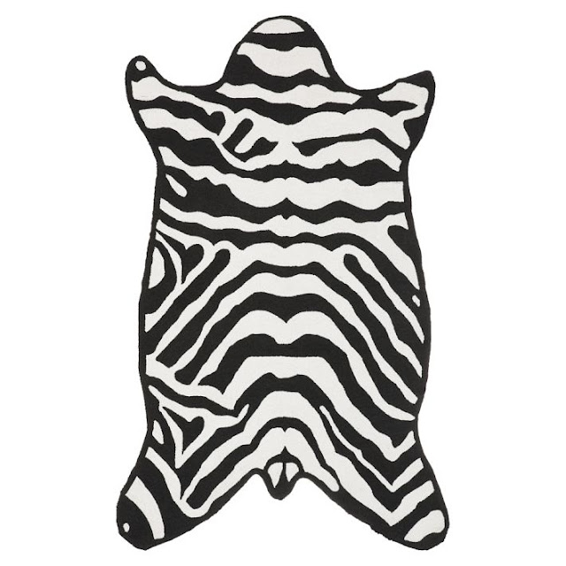 Copy Cat Chic Jonathan Adler Zebra Rug