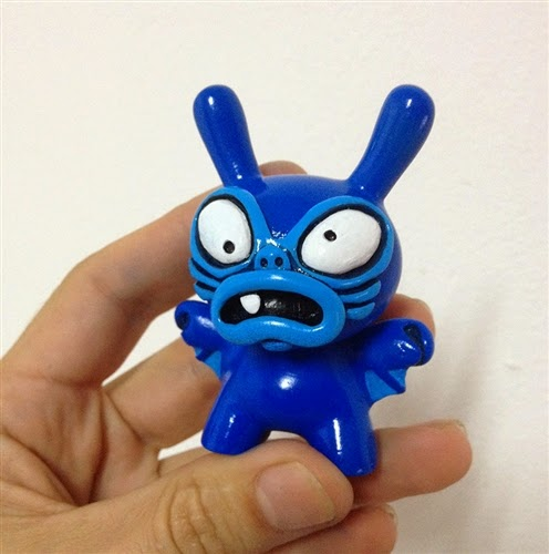 """Tenacious Toys Blue"" Baby Greasebat Dunny Resin Figure by Chauskoskis"