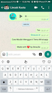 Cara Mudah ubah Tema Whataspp 9