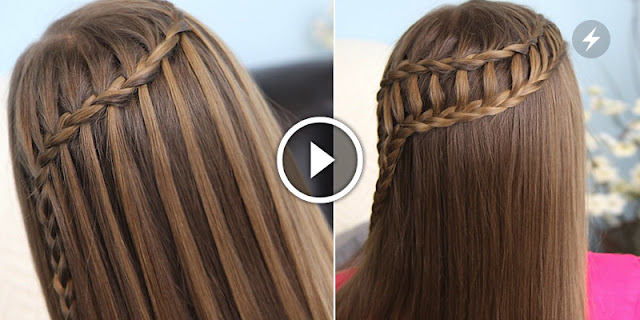 How To Make Feather Waterfall & Ladder Braid Hairstyle, See Tutorial