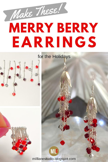 Merry Berry Earrings progress steps