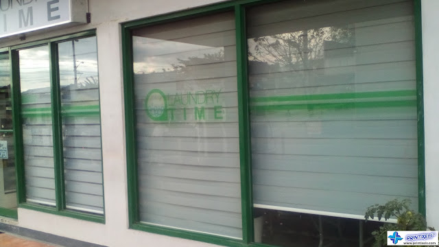 Frosted Glass Stickers - Laundry Time, General Trias, Cavite