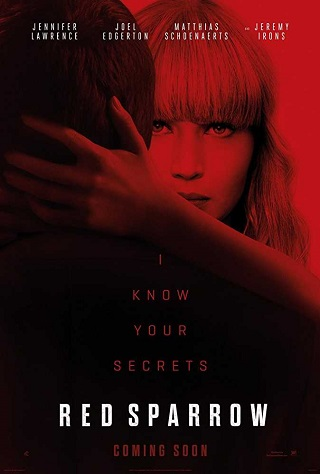Red Sparrow 2018 English 350MB HDRip 480p Full Movie Download Watch Online 9xmovies Filmywap Worldfree4u