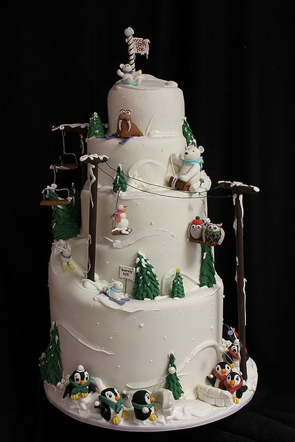 Christmas wedding and party ideas | Winter Wedding | 100 ... |Christmas Wedding Cakes