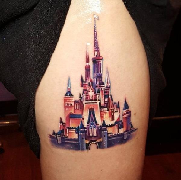 tatuagem castelo