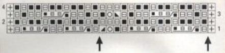 tejido con dos agujas grafico esquema
