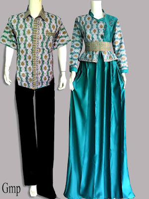 Model Baju Batik Couple Kombinasi Brokat Terbaru