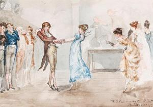 Courting, Georgian, Regency, England, dance, ball