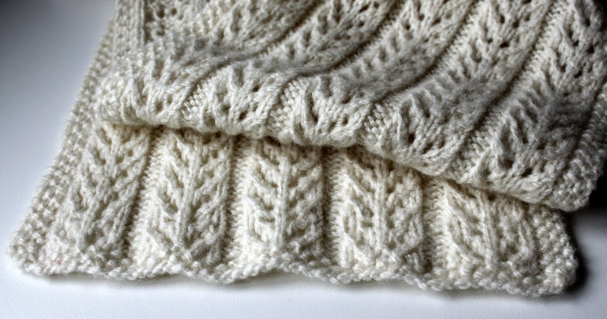 Hand Knitted Things Birch Trees Scarf Free Pattern
