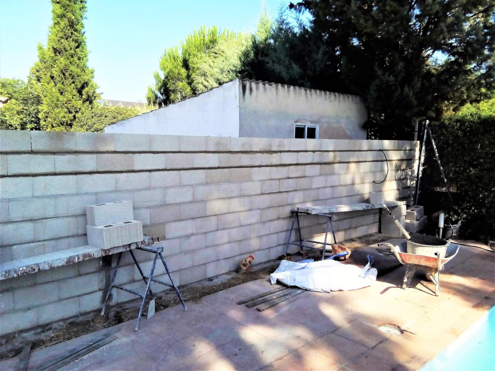 de muro con bloques de hormigon