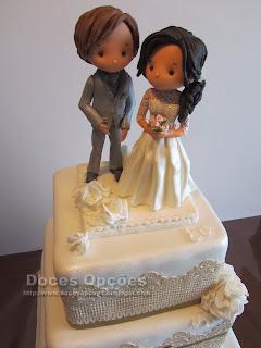 wedding cake doces opções