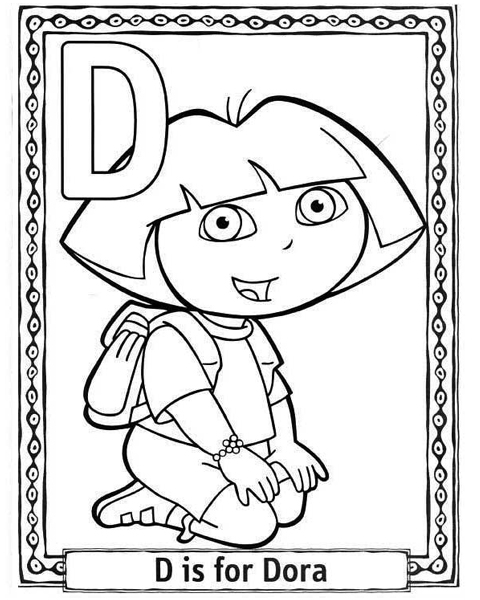 ABC Coloring Pages: Cartoon Characters Alphabet Coloring Pages