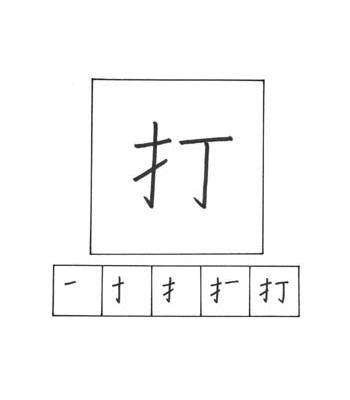 kanji memukul