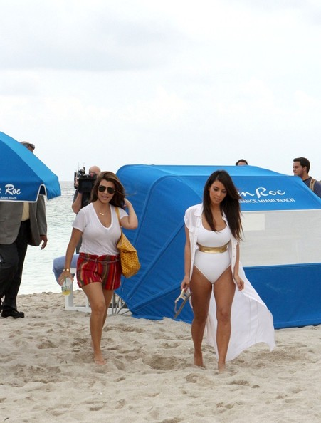 kim kardashian white swimsuit miami