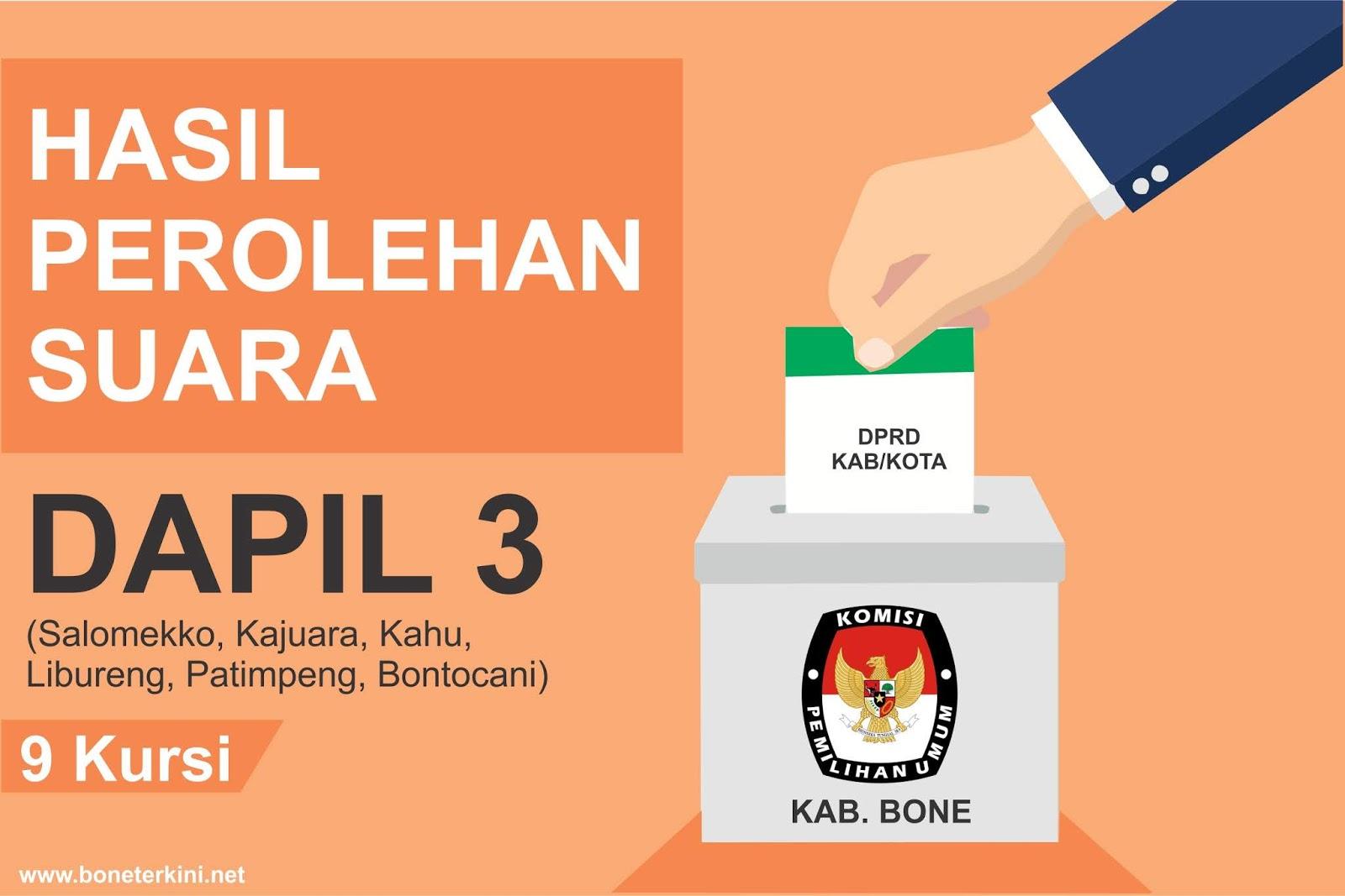 Ini Caleg Terpilih DPRD Kabupaten Bone Dapil 3 Hasil Rekapitulasi KPU