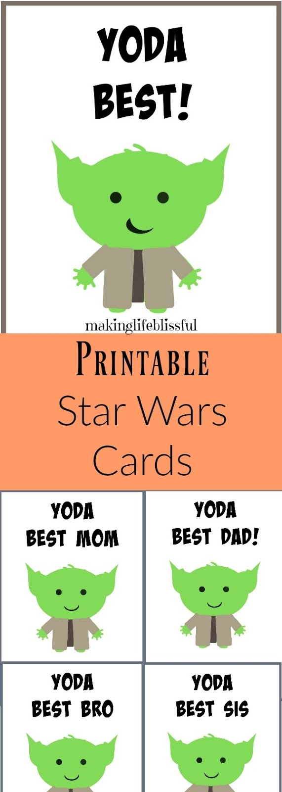 graphic regarding Yoda Printable named No cost YODA Suitable Father Star Wars Fathers Working day Printable Generating