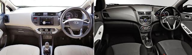 Interior KIA Rio dan Hyundai Grand Avega - Dashboard