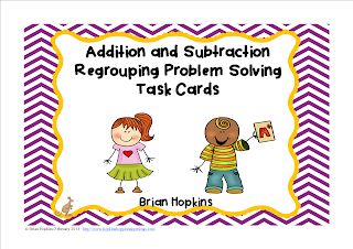 Addition and Subtraction Regrouping Problem Solving Cards