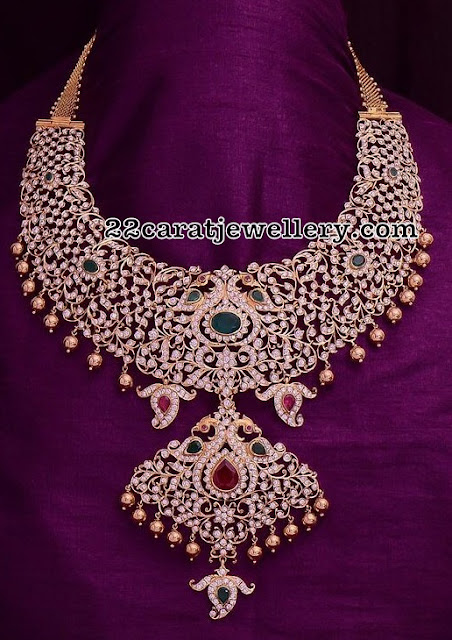 Closed Setting Diamond Necklaces