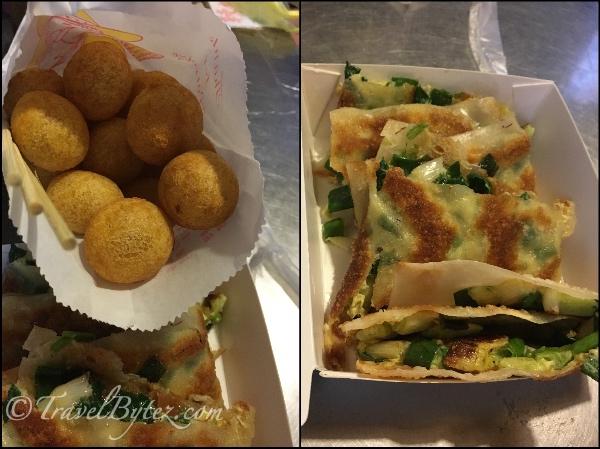 Scallion Pancake & Sweet Potato balls