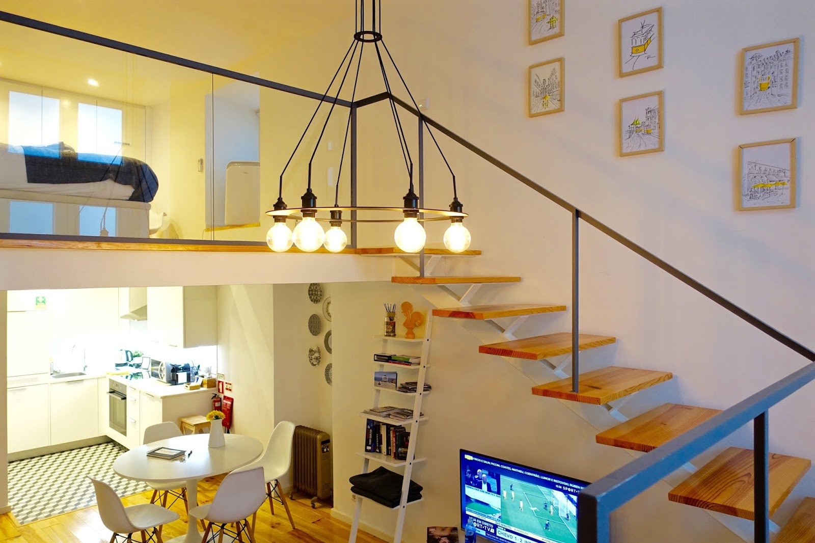 lisbon airbnb apartment with split level living