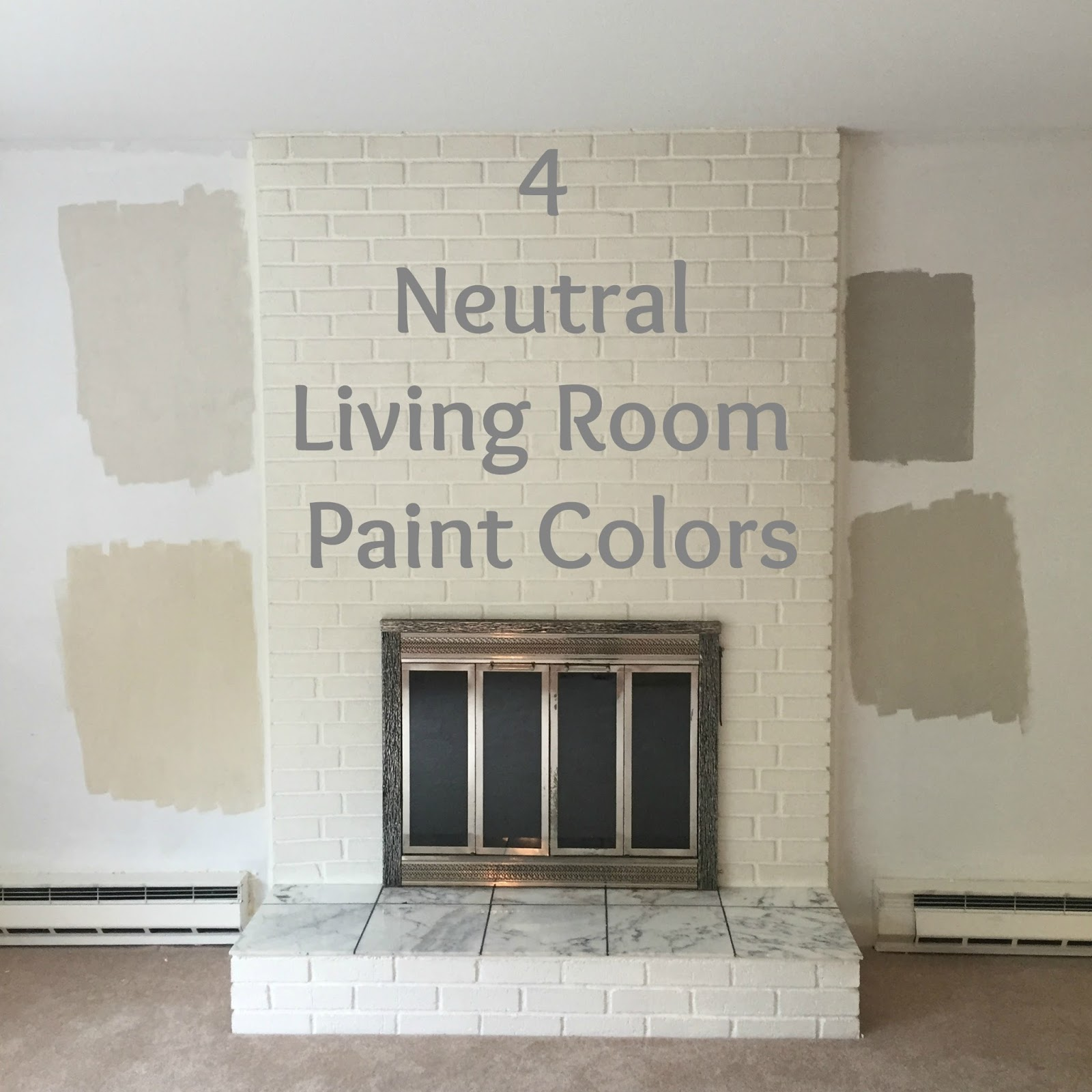 Drew danielle design 4 neutral living room paint colors for Neutral cream paint color