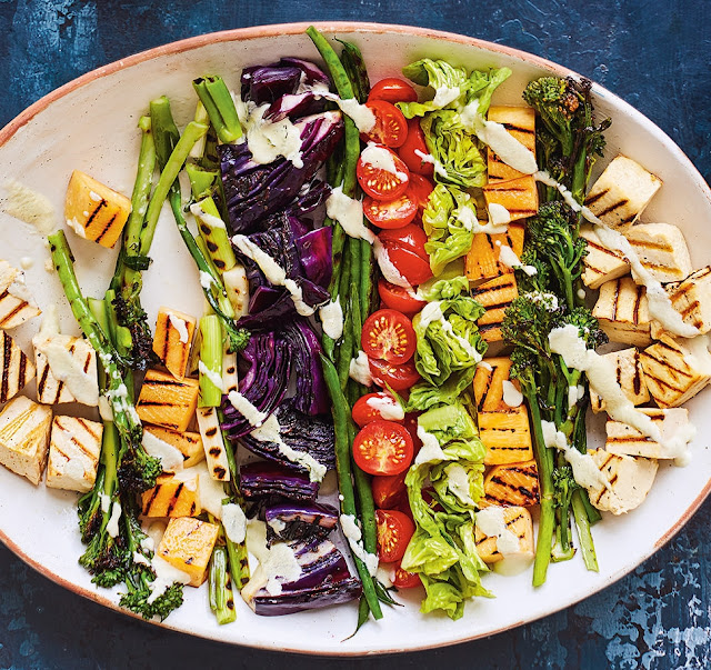 Roasted Veg Salad With Cashew Dressing Recipe