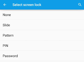 Select screen lock