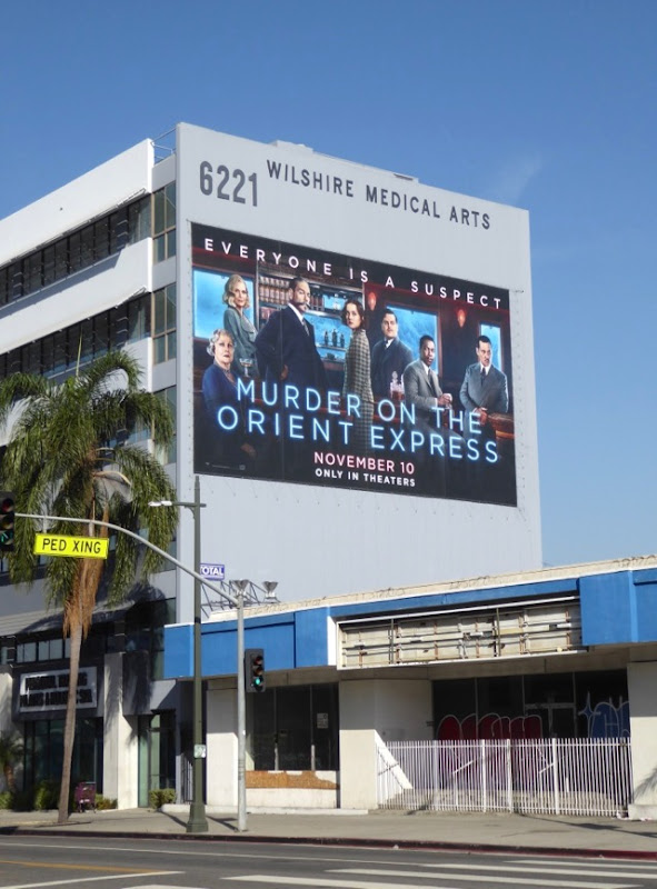 Giant Murder on the Orient Express film billboard