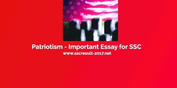 Patriotism - Important Essay for SSC