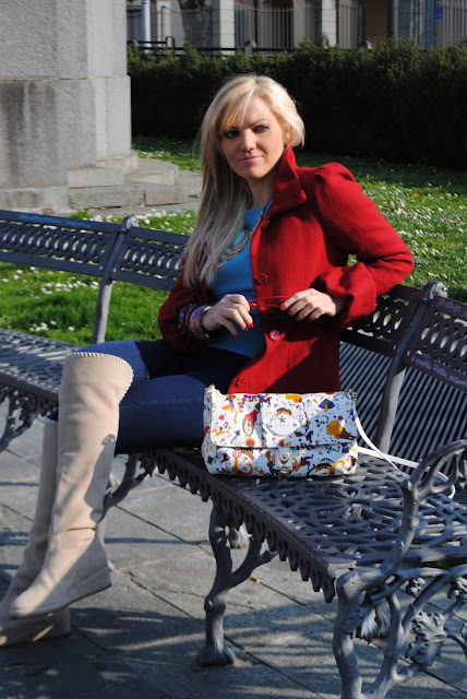 mariafelicia magno fashion blogger ragazze al parco outfit casual primaverili  borsa piero guidi borse piero guidi collezione magic circus borsa in pelle bianca stampata come abbinare una borsa in pelle stampata piero guidi bag white leather bag how to wear white leather bag how to combine white leather bag how to match white leather bag outfit marzo 2016 outfit casual invernali mariafelicia magno fashion blogger color block by felym fashion blogger italiane fashion blog italiani fashion blogger milano blogger italiane blogger italiane di moda blog di moda italiani ragazze bionde blonde hair blondie blonde girl fashion bloggers italy italian fashion bloggers influencer italiane italian influencer