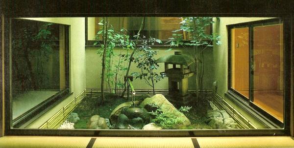 Jardim Japonês em espaço interior