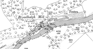Broadhalgh Mill, OS map, 1891.