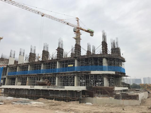 Tiến độ thi công xây dựng tòa CT1 Gelexia Riverside