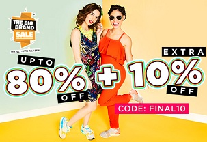 Jabong – Upto 80% Off + Extra 10% Off on Women's Clothing, Footwear & Accessories (No Minimum Purchase)