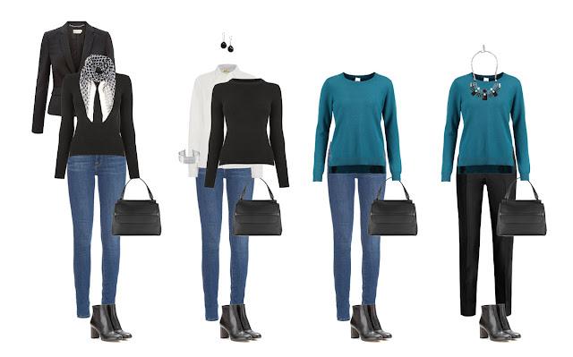 Комплекты капсульного гардероба со свитером