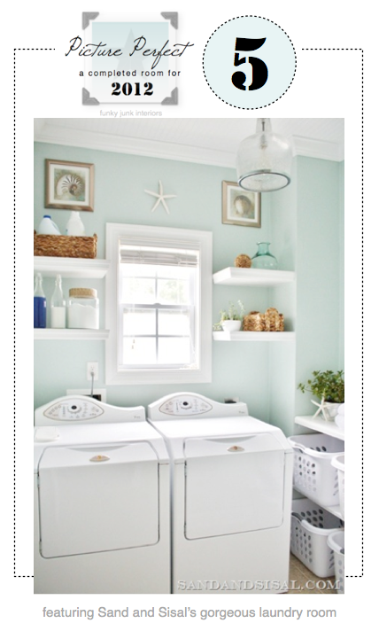 Sand & Sisal's laundry room at Funky Junk Interiors - Picture Perfect 5